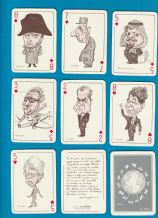 Collectible Non-standard playing cards. i Politici, 1983 politicians cartoon,